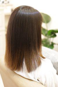高難易度縮毛矯正(髪質改善ストレートエステ)後ー金町の美容院オーファ